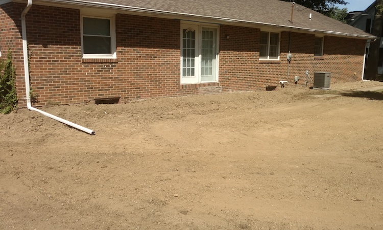 A view of the completed basement wall and waterproofing job in Elida, Ohio.