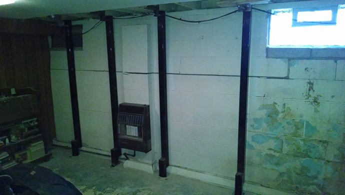 steel beams for bowing basement walls forever foundation repair