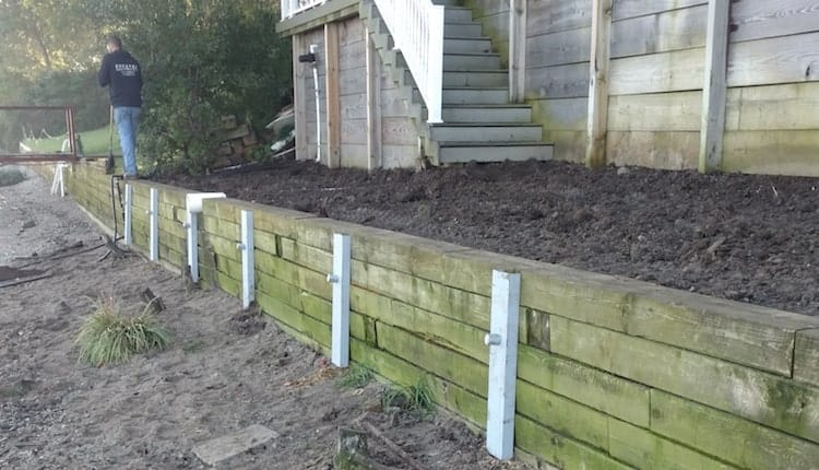 Retaining Wall Repair Along The Maumee River In Rossford Ohio