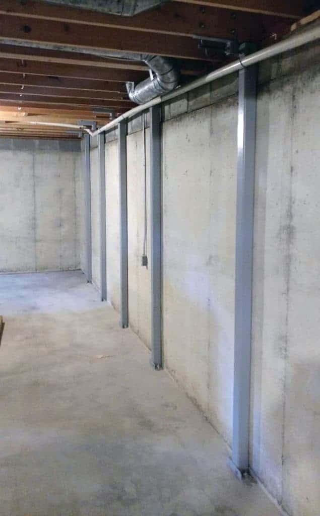 Steel Beam Basement wall brace